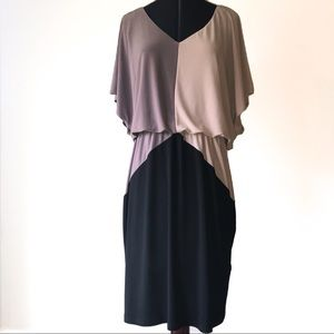 MSK Retro color block batwing dress
